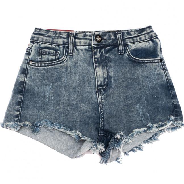 0829 темно-синие Redmoon шорты джинсовые женские с царапками стрейчевые (25-30, 6 ед.) REDMOON: артикул 1110723