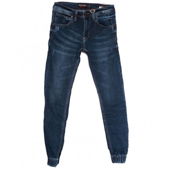 6211 Redcode джинсы мужские на резинке с царапками синие осенние стрейчевые (29-36, 8 ед.) Redcode: артикул 1113015