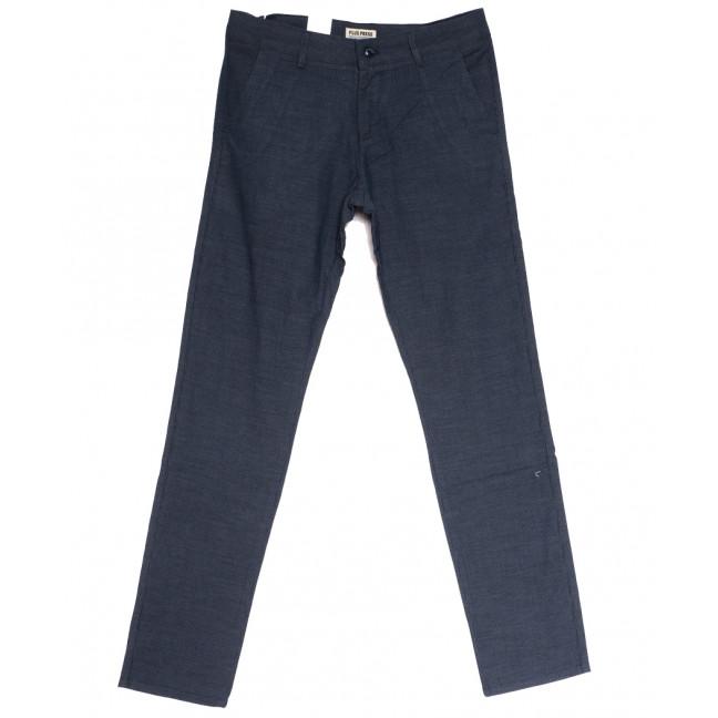 0857 Plus Press брюки мужские синие осенние коттоновые (29-36, 8 ед.) Plus Press: артикул 1112805