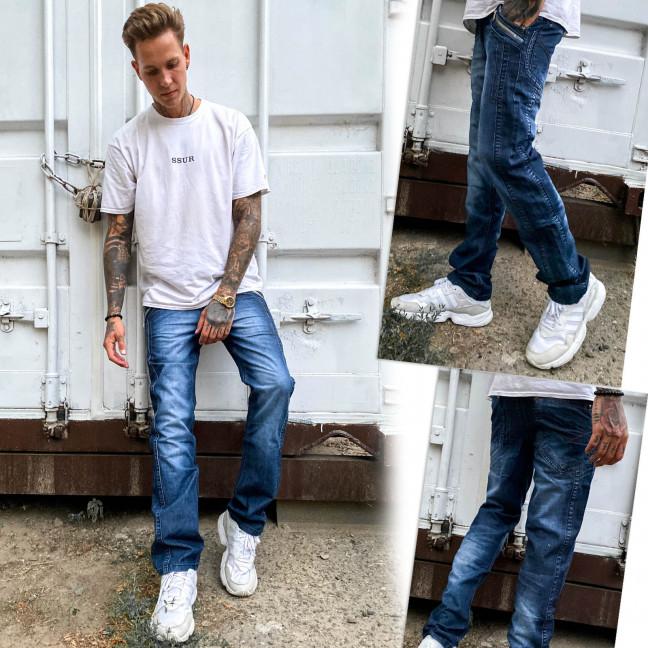 5811-3 Vigoocc джинсы мужские с декоративной отделкой синие осенние котоновые (29-36, 7 ед.) Vigoocc: артикул 1112962