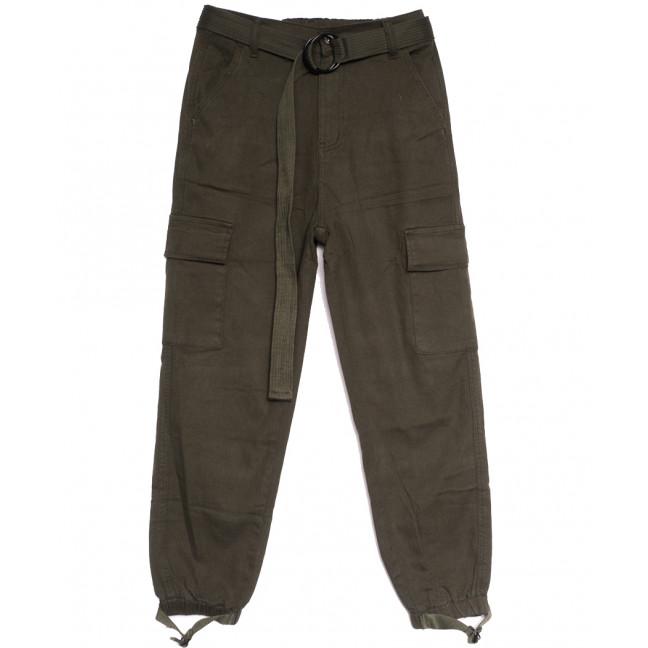 7796-11 хаки Saint Wish брюки женские с боковыми карманами осенние стрейчевые (25-30, 6 ед.) Saint Wish: артикул 1112822