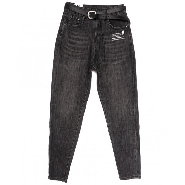 0889 джинсы-баллон серые осенние стрейчевые (S-L, 6 ед.) Джинсы: артикул 1112910