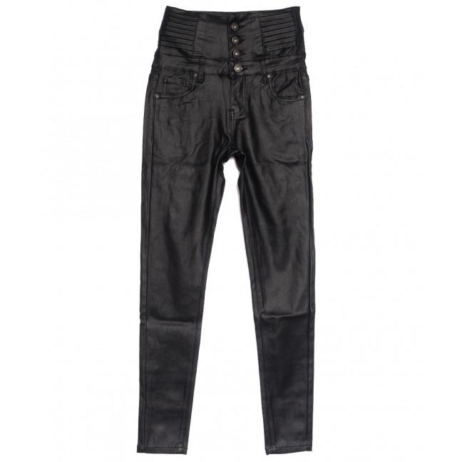 3972-13 брюки женские из экокожи черные осенние стрейчевые (27-32, 6 ед.) Брюки: артикул 1112250