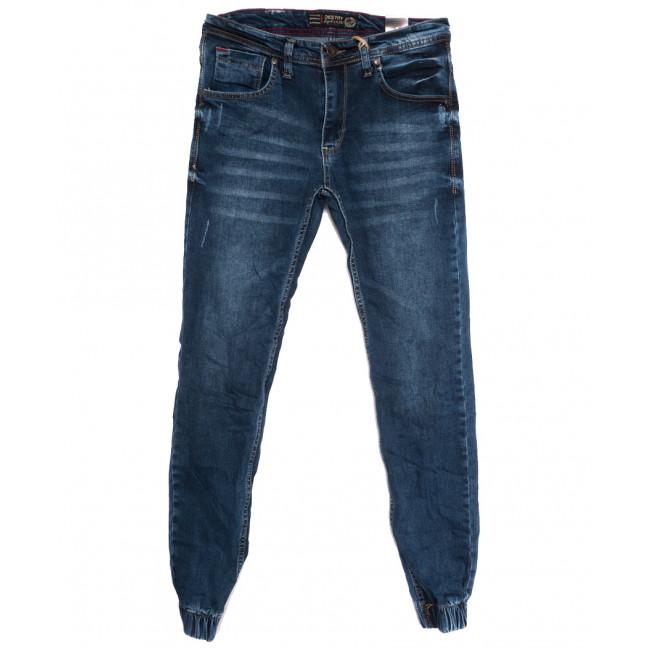 6212 Destry джинсы мужские на резинке с царапками синие осенние стрейчевые (29-36, 8 ед.) Destry: артикул 1113019
