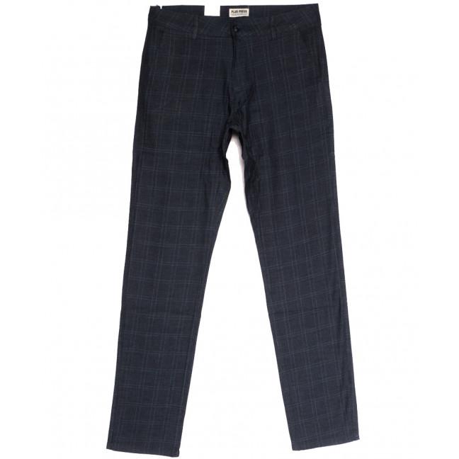 0896 Plus Press брюки мужские темно-синие осенние коттоновые (30-38, 8 ед.) Plus Press: артикул 1112809