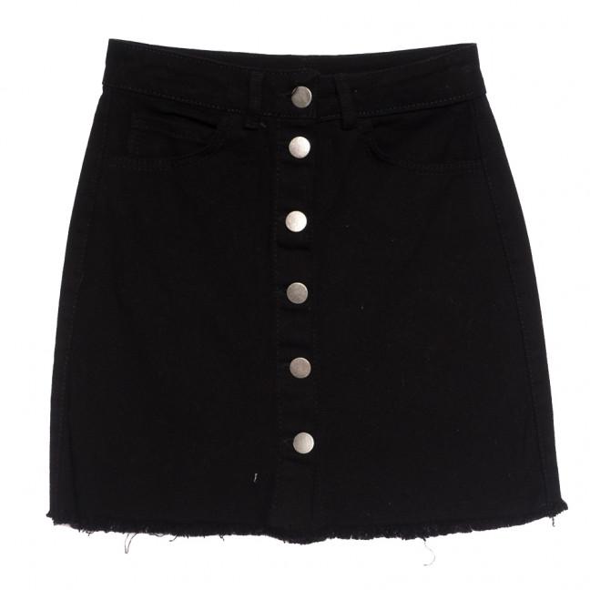 35432 Defile юбка джинсовая на пуговицах черная осенняя коттоновая (34-42,евро, 6 ед.) Defile: артикул 1112948