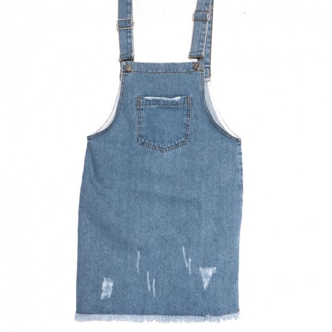 3311 YMR сарафан джинсовый с царапками синий осенний коттоновый (S-L, 6 ед.) YMR: артикул 1112945
