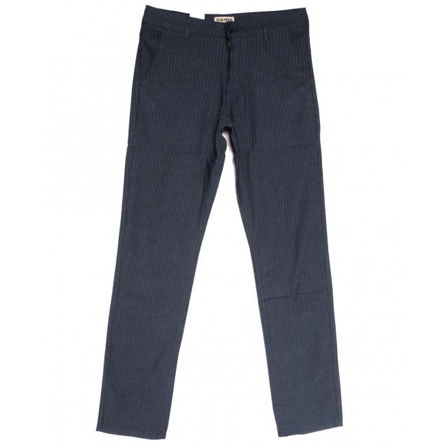 0898 Plus Press брюки мужские синие осенние коттоновые (30-38, 8 ед.) Plus Press: артикул 1112813