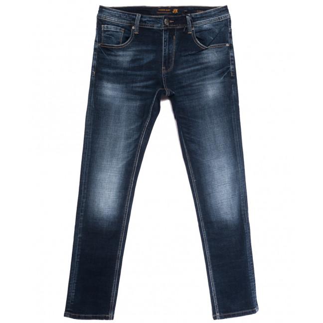 0023-2 (023А2) JE джинсы мужские полубатальные синие осенние стрейчевые (32-38, 8 ед.) JE: артикул 1112858