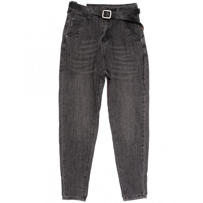 0888 джинсы-баллон серые осенние стрейчевые (S-L, 6 ед.) Джинсы: артикул 1112909
