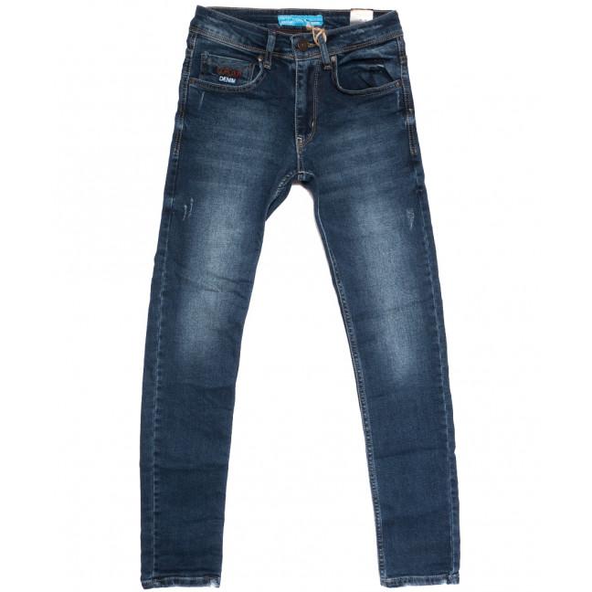 6071 Corcix джинсы мужские молодежные с царапками синие осенние стрейчевые (27-32, 8 ед.) Corcix: артикул 1112363