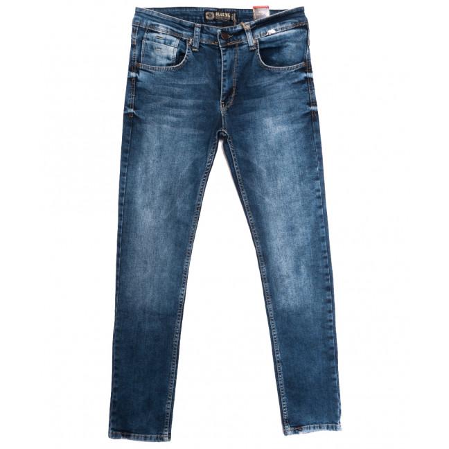 7085 Blue Nil джинсы мужские с царапками синие осенние стрейчевые (29-36, 8 ед.) Blue Nil: артикул 1113424