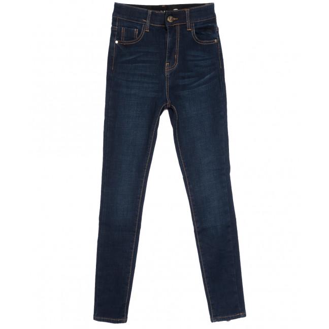 0588 New Jeans американка на флисе синяя зимняя стрейчевая (25-30, 6 ед.) New Jeans: артикул 1113816