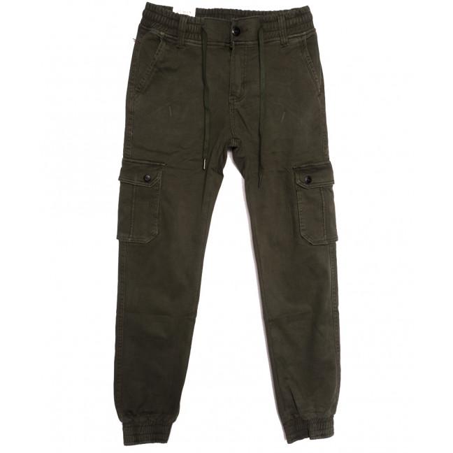 8388 Reman брюки карго мужские молодежные на флисе хаки зимние стрейчевые (28-36, 8 ед.) Reman: артикул 1115066