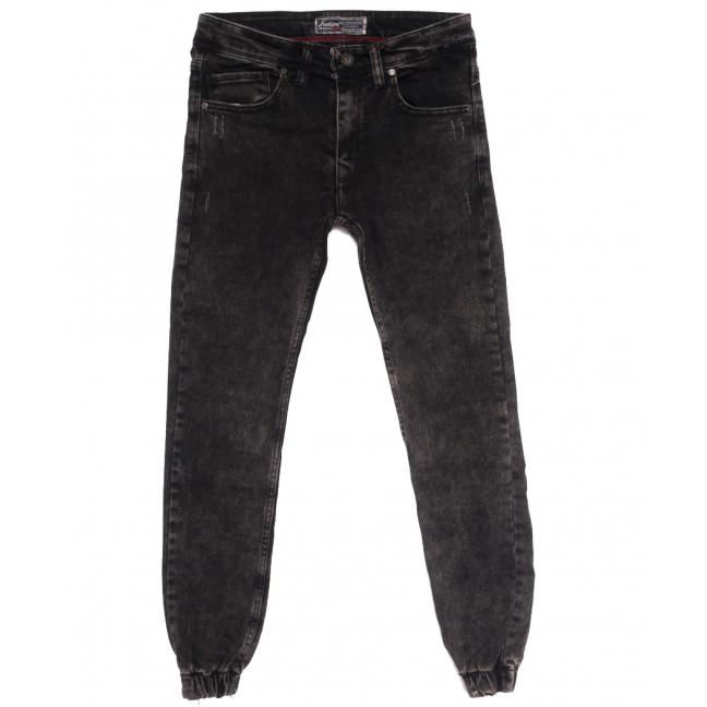 7247 Fashion Red джинсы мужские на резинке с царапками серые осенние стрейчевые (29-36, 8 ед.) Fashion Red: артикул 1114036