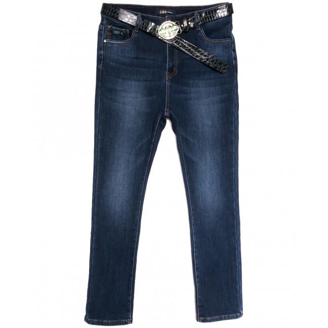 6255 Like джинсы женские батальные на флисе синие зимние стрейчевые (31-38, 6 ед.) Like: артикул 1114397