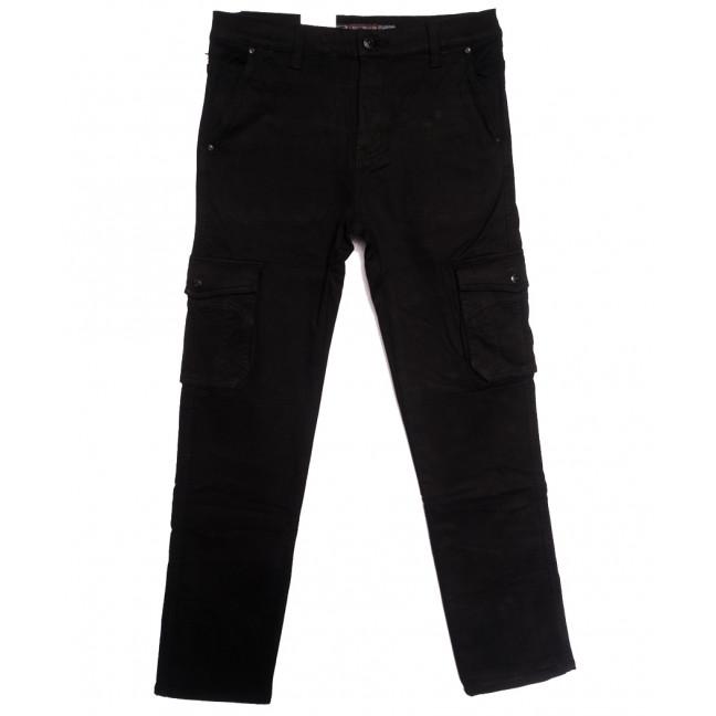 8392 Reman брюки карго мужские полубатальные на флисе черные зимние стрейчевые (32-42, 8 ед.) Reman: артикул 1115061