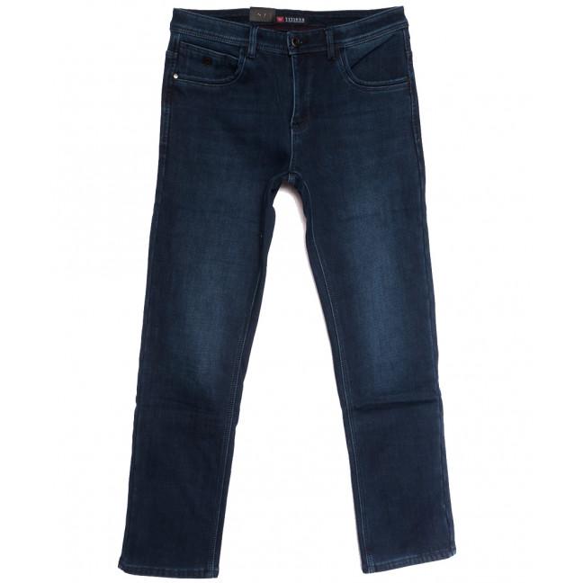5119 Vitions джинсы мужские полубатальные на флисе синие  зимние стрейчевые (32-38, 8 ед.) Vitions: артикул 1114578