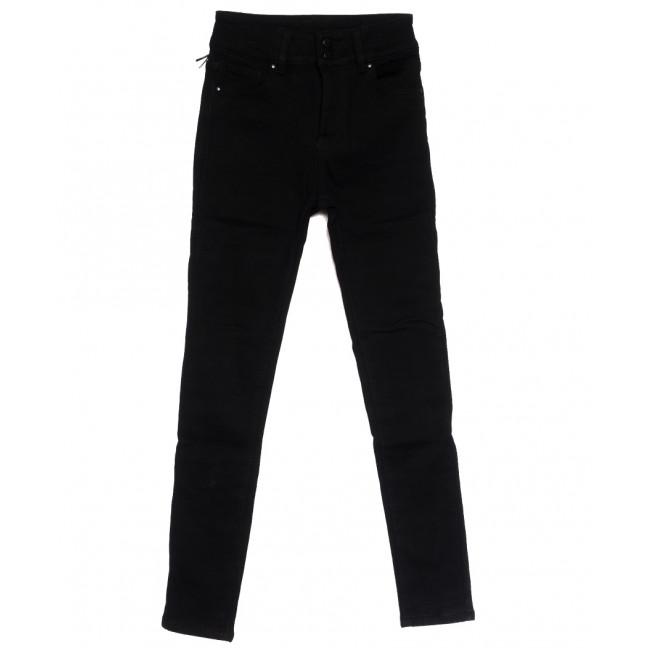 0560 New Jeans американка на флисе черная зимняя стрейчевая (25-30, 6 ед.) New Jeans: артикул 1113814