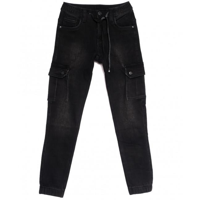 1566 Bagrbo джинсы мужские молодежные на резинке на флисе черные зимние стрейчевые (27-34, 8 ед.) Bagrbo: артикул 1114882