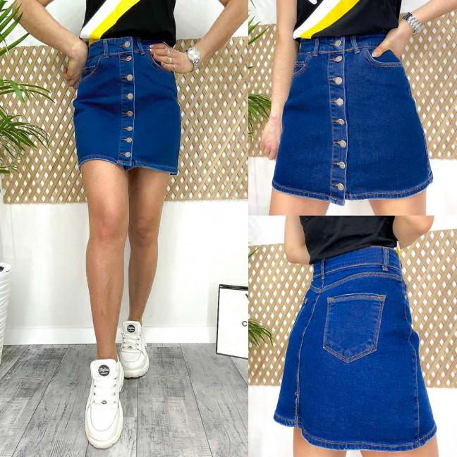 0565-04 Arox юбка джинсовая синяя коттоновая (4 ед. размеры евро: 34.36.38.40) Arox: артикул 1113292