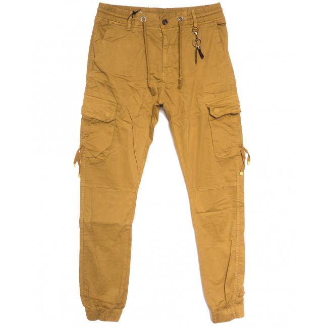 8956-14 песочные брюки карго мужские стрейчевые (5 ед. размеры: 29.30.32.34.36) Брюки: артикул 1114481