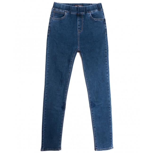 0017 Sevilla джинсы женские батальные на резинке синие осенние стрейчевые (30-36, 6 ед.) Sevilla: артикул 1113486