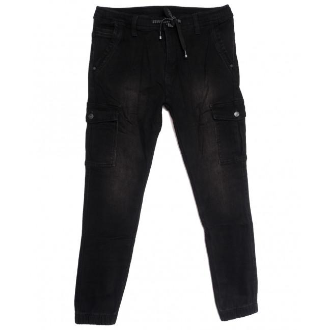 1569 Bagrbo джинсы мужские молодежные на резинке на флисе черные зимние стрейчевые (28-36, 8 ед.) Bagrbo: артикул 1114883
