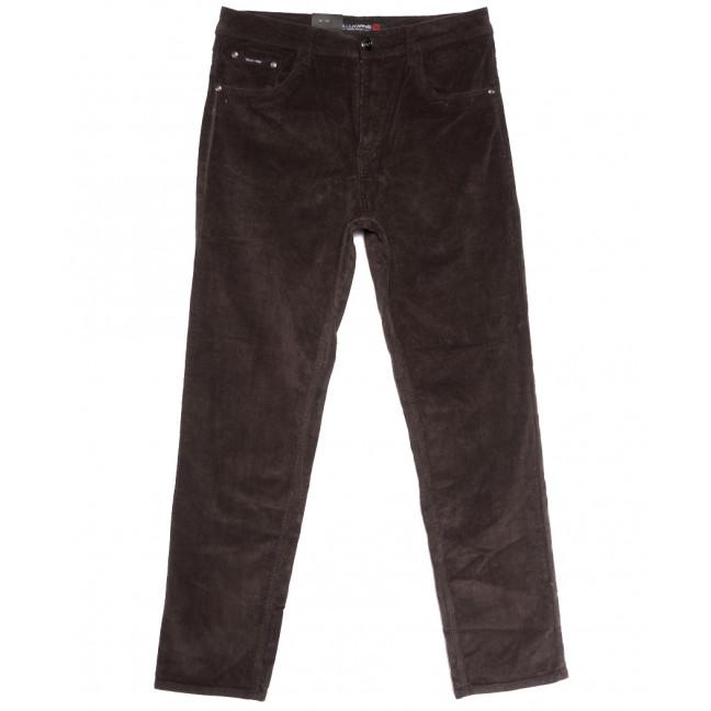 8812 (8812В) LS брюки мужские вельветовые полубатальные коричневые осенние стрейчевые (32-42, 8 ед.) LS: артикул 1114252