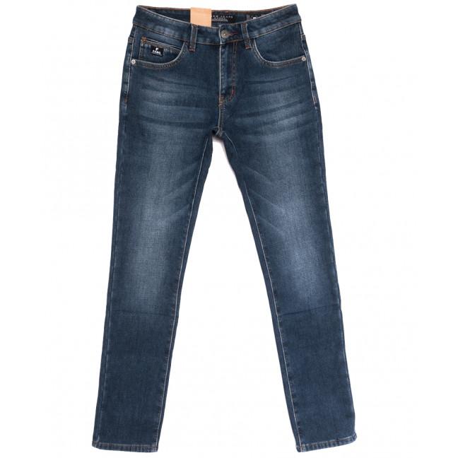 2309 Fang джинсы мужские на флисе синие зимние стрейчевые (30-38, 8 ед.) Fang: артикул 1114404