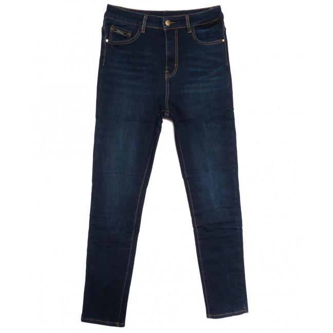 0596 New Jeans американка батальная на флисе синяя зимняя стрейчевая (31-36, 6 ед.) New Jeans: артикул 1113813