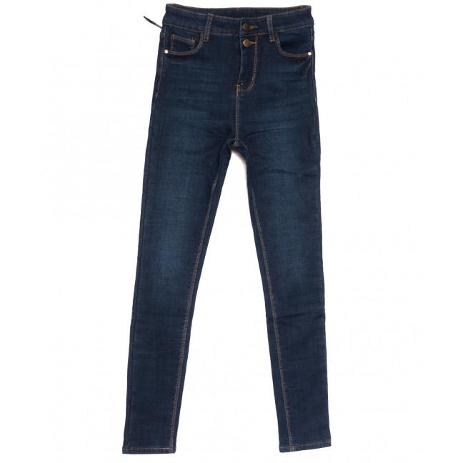 0611 New Jeans американка на флисе синяя зимняя стрейчевая (25-30, 6 ед.) New Jeans: артикул 1113808