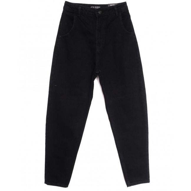 1666-1 Black Its Basic джинсы-баллон черные осенние коттоновые (34-42,евро, 6 ед.) Its Basic: артикул 1114321