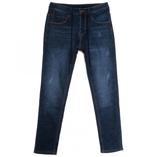8201 Mark Walker джинсы мужские с царапками на флисе синие зимние стрейчевые (29-38, 8 ед.) Mark Walker: артикул 1114673