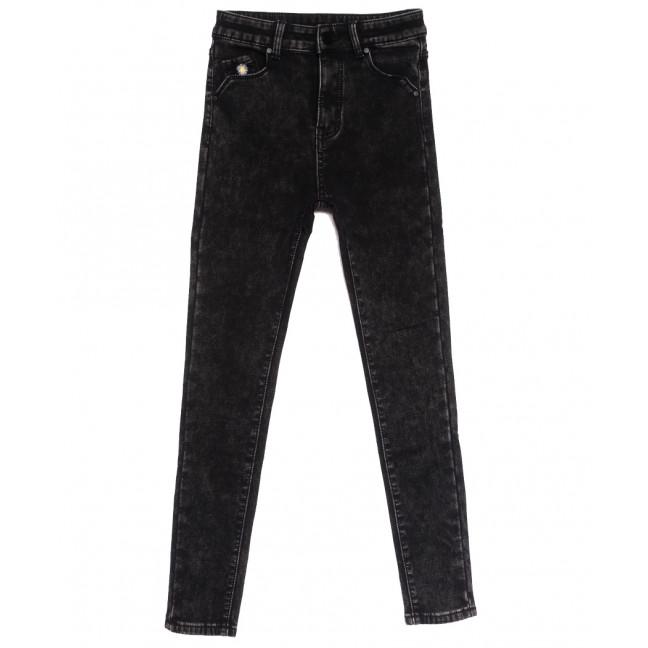 0578 New Jeans американка на флисе темно-серая зимняя стрейчевая (25-30, 6 ед.) New Jeans: артикул 1113829