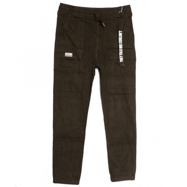 0711 (711L) хаки Forest Jeans джоггеры женские полубатальные осенние стрейчевые (28-33, 6 ед.) Forest Jeans: артикул 1113237