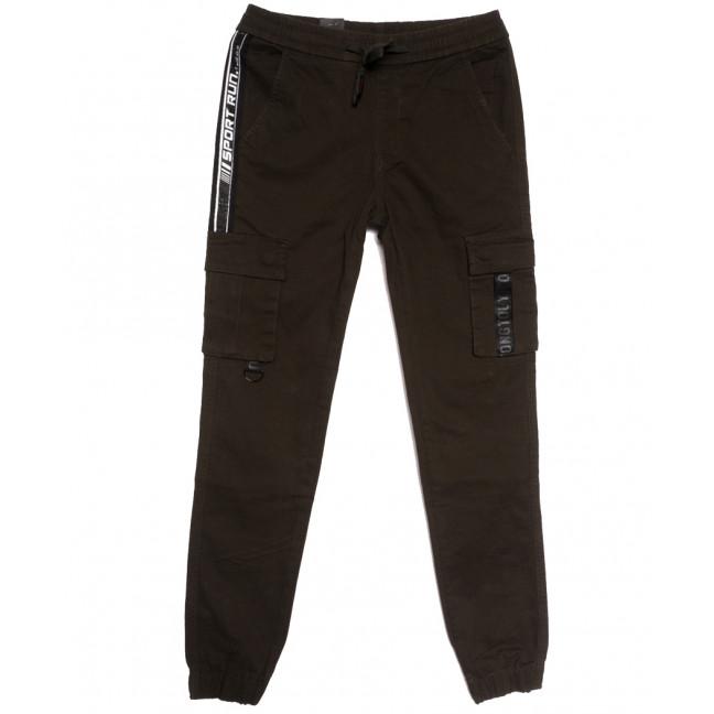 7043 (7043А) Vitions джинсы мужские молодежные на резинке коричневые осенние стрейчевые (27-34, 8 ед.) Vitions: артикул 1113608