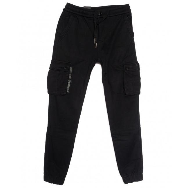 7065 (7065А) Vitions брюки карго мужские на флисе черные зимние стрейчевые (30-40, 8 ед.) Vitions: артикул 1114588