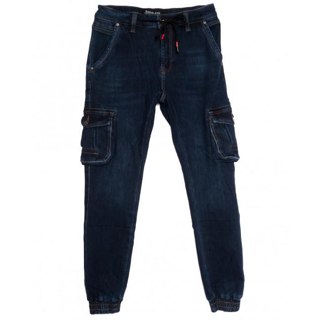 31777 Reigouse джинсы мужские на резинке на флисе синие зимние стрейчевые (30-40, 8 ед.) REIGOUSE: артикул 1114677