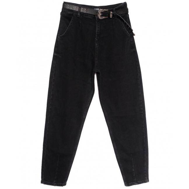 1032 Black Esqua джинсы-баллон черные осенние стрейчевые (25-30, 6 ед.) Esqua: артикул 1114320