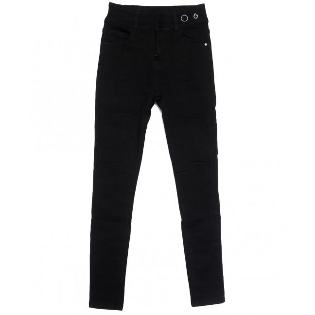0572 New Jeans американка на флисе черная зимняя стрейчевая (25-30, 6 ед.) New Jeans: артикул 1113792