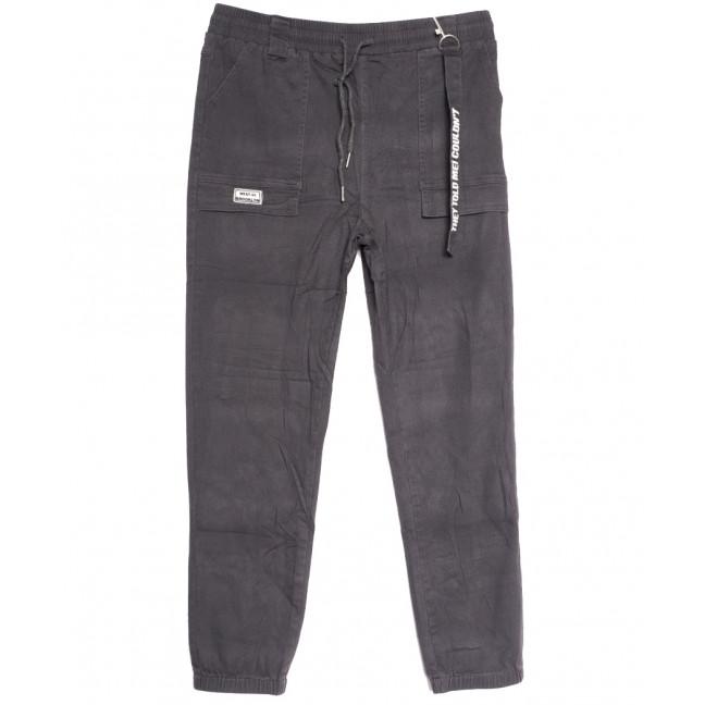 0712 (712L) серые Forest Jeans джоггеры женские полубатальные осенние стрейчевые (28-33, 6 ед.) Forest Jeans: артикул 1113233