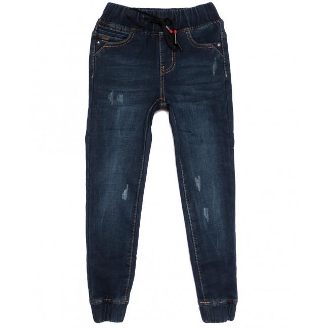 0600 Little Star джинсы на девочку на резинке на флисе с царапками  синие зимние стрейчевые (20-25, 6 ед.) Little Star: артикул 1113844
