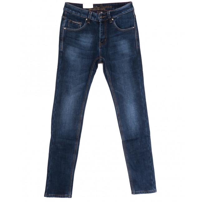 9371 God Baron джинсы мужские молодежные на флисе синие зимние стрейчевые (28-36, 8 ед.) God Baron: артикул 1114428