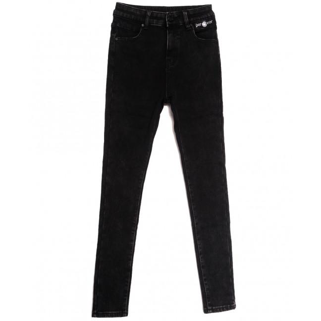 0584 New Jeans джинсы женские на флисе черные зимние стрейчевые (25-30, 6 ед.) New Jeans: артикул 1113580