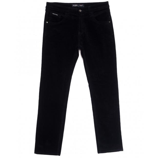 7025 (7025D) Vitions брюки мужские вельветовые полубатальные темно-синие осенние стрейчевые (32-42, 8 ед.) Vitions: артикул 1114240
