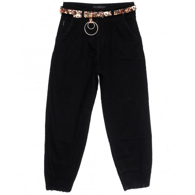 9966-1 Liuzin джинсы-баллон черные осенние стрейчевые (25-30, 6 ед.) Liuzin: артикул 1114435