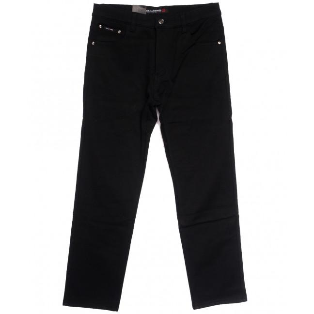 89021 LS джинсы мужские батальные на флисе черные зимние стрейчевые (34-42, 8 ед.) LS: артикул 1114577