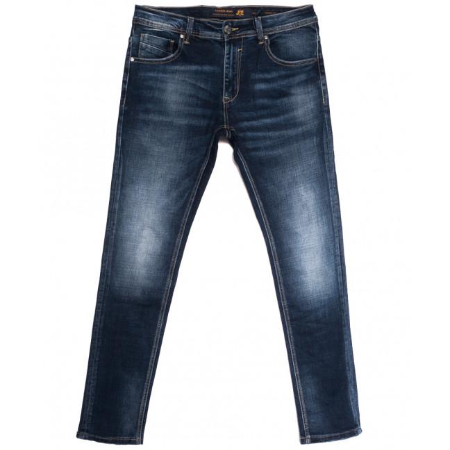 0002 JE джинсы мужские полубатальные синие осенние стрейчевые (32-38, 8 ед.) JE: артикул 1113295