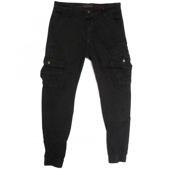 1961 Forex брюки карго мужские молодежные черные осенние стрейчевые (28-38, 6 ед.) Forex: артикул 1114479